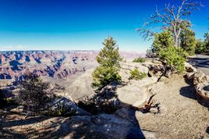 360 Grad Panorama am Grand Canyon in der Nähe von Flagstaff, Arizona, USA.