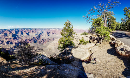360 Grad Panorama am Grand Canyon in der Nähe von Flagstaff, Arizona, USA.