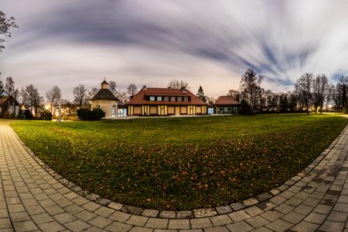 Nacht 360 Grad Panorama an der Villa Schwalbenhof in Gärtringen bei Vollmond