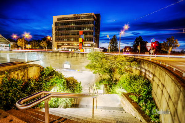 Aufnahme zur blauen Stunde in Stuttgart Degerloch
