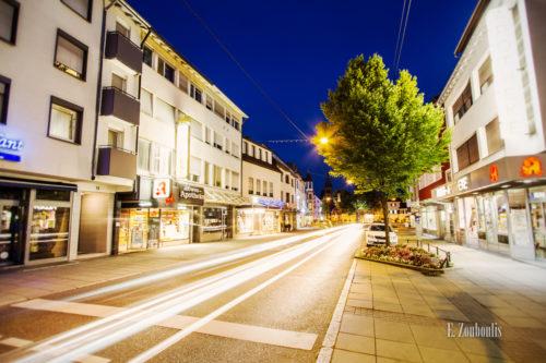 Nachtaufnahme an der Epplestraße in Stuttgart Degerloch