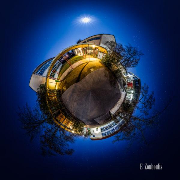 Der Planet Gärtringen – in diesem Fall an der Ludwig Uhland Schule in Gärtringen. Ein 360 Grad Rundumblick in der Form einer Sphäre