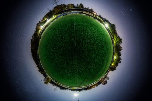 Der Planet Gärtringen – in diesem Fall auf dem Fußballplatz des FC Gärtringen. Ein 360 Grad Rundumblick in der Form einer Sphäre