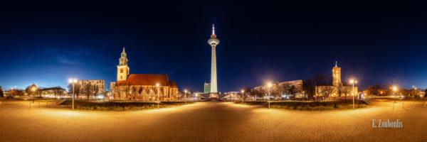 Berlin Alexanderplatz Panorama - 360 Grad Fotografie am Alexanderplatz Berlin bei Nacht