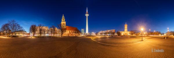 Berlin Alexanderplatz Panorama Vol II - 360 Grad Fotografie am Alexanderplatz Berlin bei Nacht