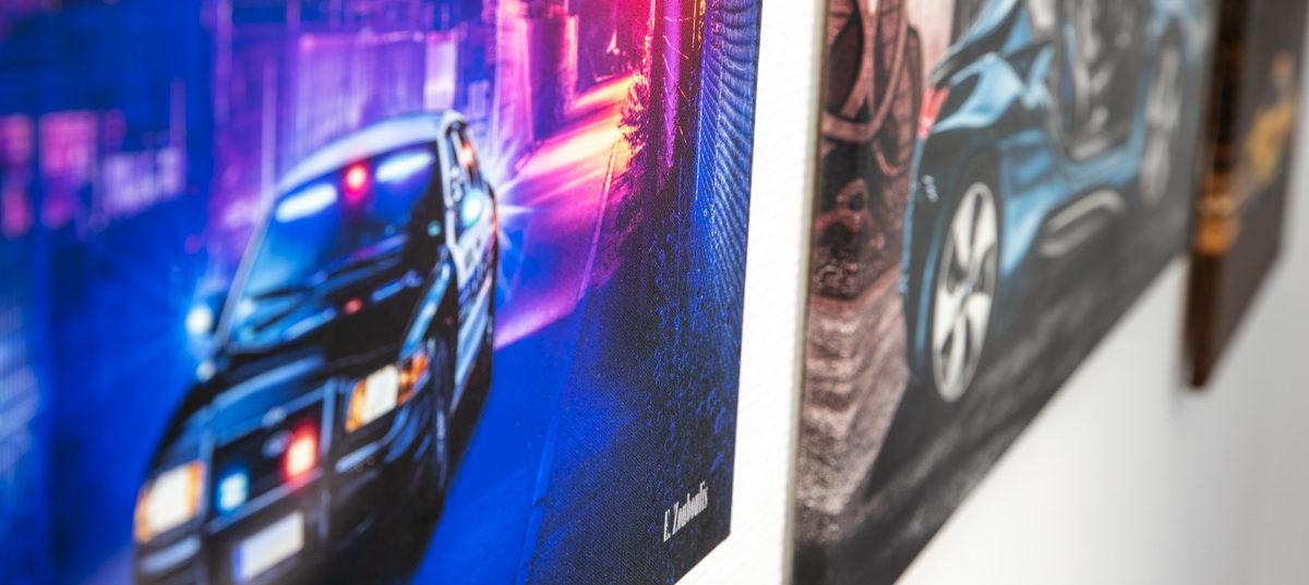 Auto Bilder fürs Büro Hochwertige Wandbilder
