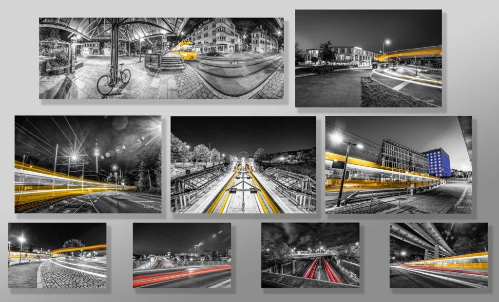 Bilder Set Stuttgart - At the Speed of Light - Hochwertige Wandbilder