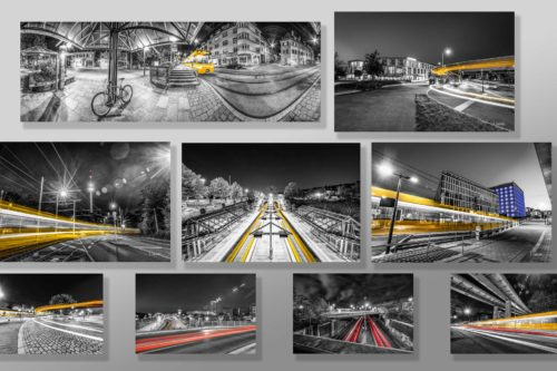 Bilder Set Stuttgart - At the Speed of Light - Hochwertige Wandbilder
